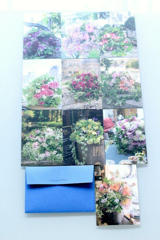 画像1: アイロニー パリ店 オリジナルポストカード 10枚 × 3セット【Bleu】【Blanc】【Rouge】