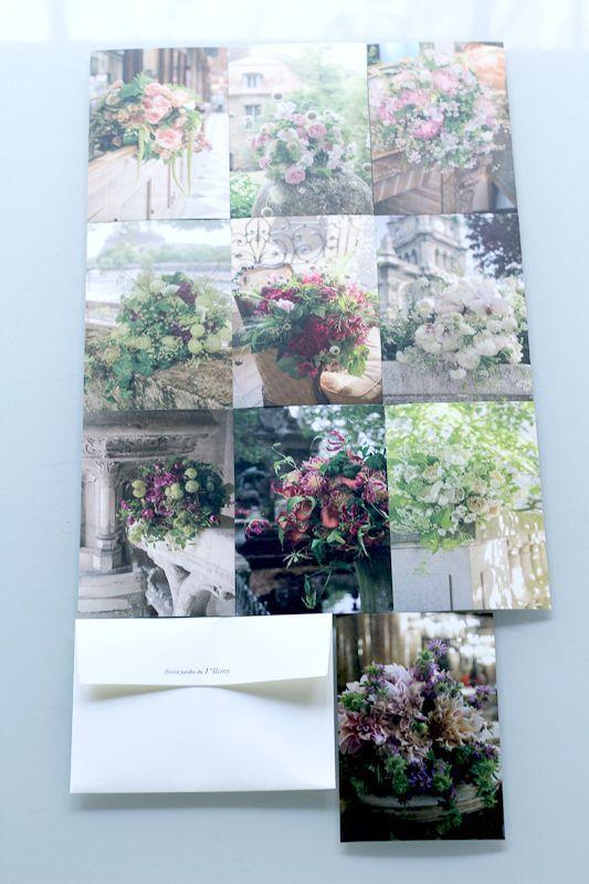 画像2: アイロニー パリ店 オリジナルポストカード 10枚 × 3セット【Bleu】【Blanc】【Rouge】