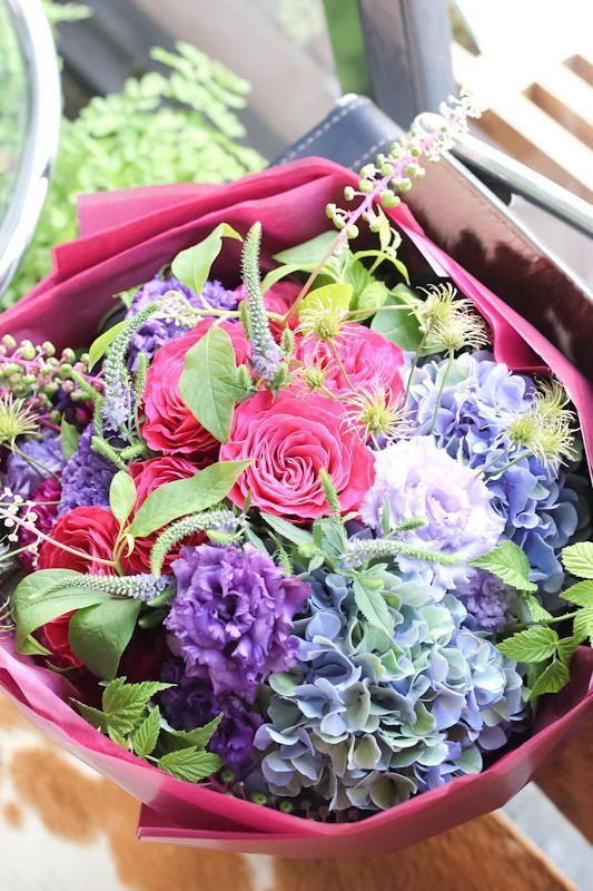 画像2: 77歳 喜寿お祝いのブーケ(紫色ベース)