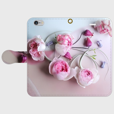 画像1: (soft) 手帳型スマホケース iPhone用
